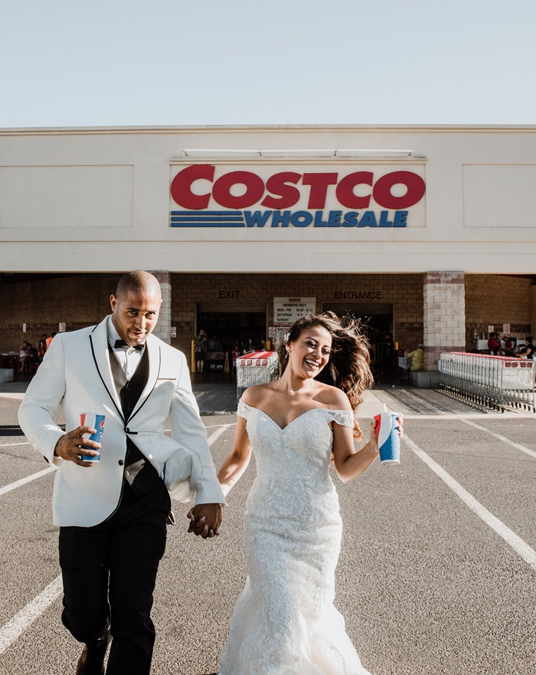 jessica brandon brown costco wedding photos