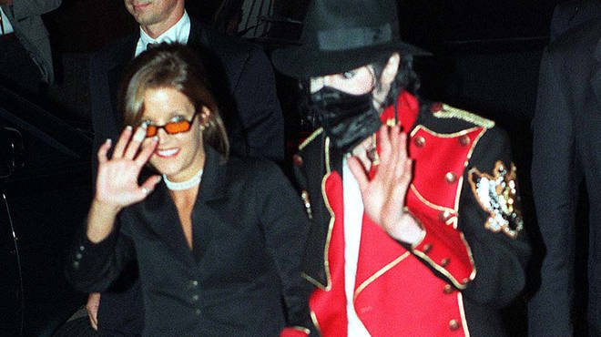 Lisa Marie Presley and husband at the time Michael Jackson