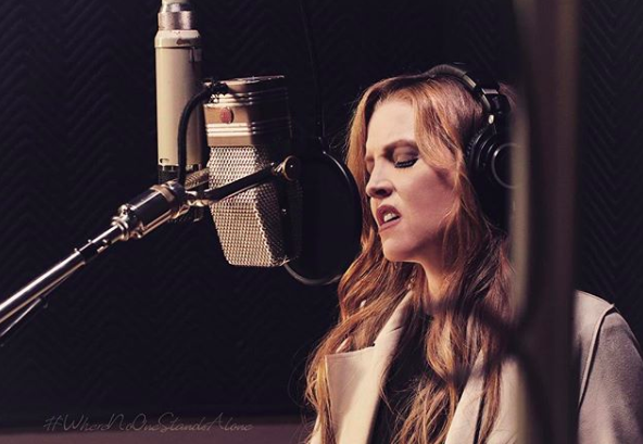 lisa marie presley in the recording studio