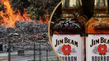massive fire destroys jim beam warehouse