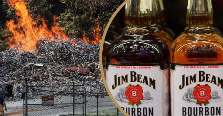 Jim Beam Bourbon Warehouse Fire
