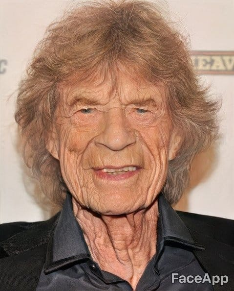 mick jagger faceapp