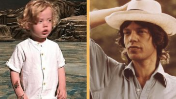 mick jaggers 2-year-old son looks just like him