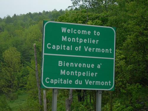 Montpelier, Vermont sign