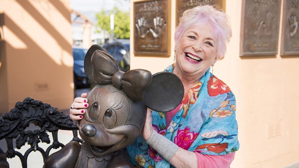 russi taylor with minnie mouse