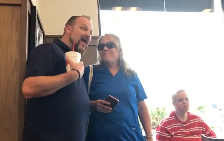 worship group singing in chick fil a