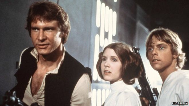 Harrison Ford, Carrie Fisher, Mark Hamill Star Wars