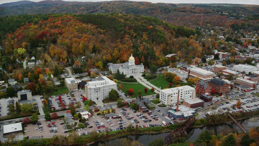 overhead view of City of Montpelier, Vermont