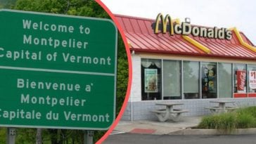 there is only one U.S. state capital with no mcdonald's