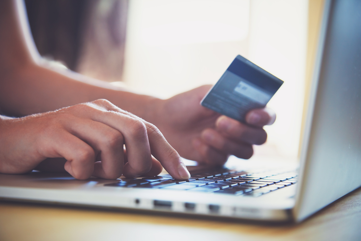 Typing credit card number