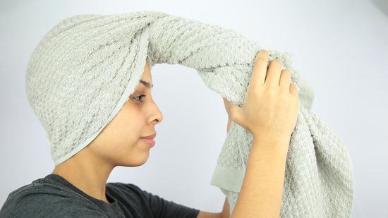 Wrapping towel around your head