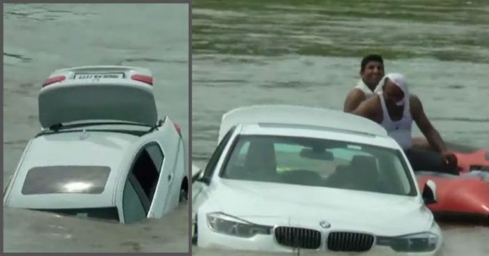 Arrogant Son Drives Gifted BMW Into A River Because He Wanted A Jaguar
