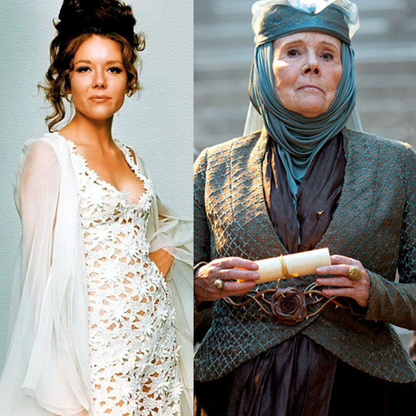 Diana Rigg in the James Bond Franchise and also in Game of Thrones.