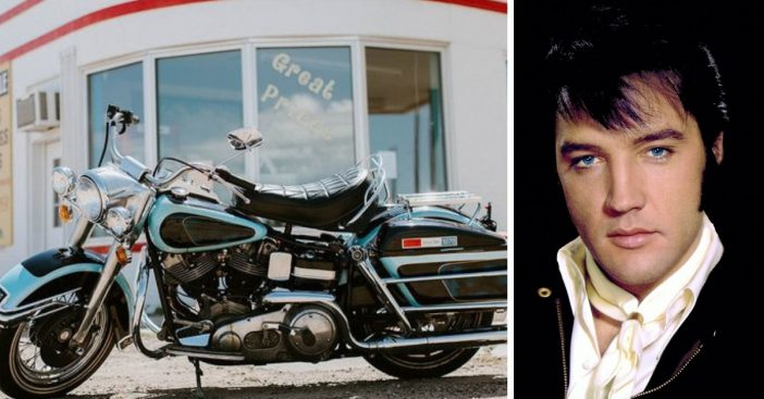 Elvis Presleys Harley Davidson motorcycle is going up for auction