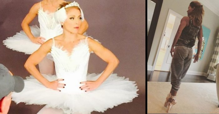Kelly Ripa invites fans to join her in attempting to break a Guinness World Record for most dancers en pointe at once