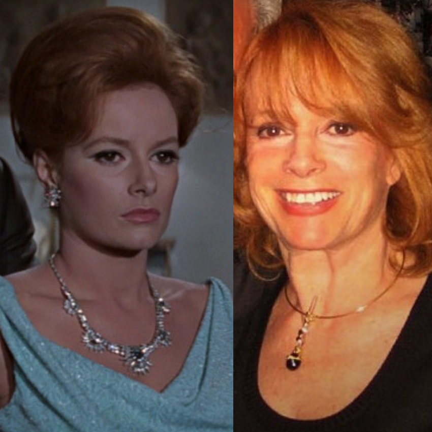 Luciana Paluzzi as Fiona Volpe and also more recent.