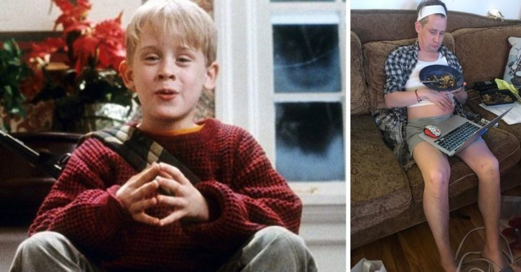 Macaulay Culkin shares a hilarious photo of what a Home Alone remake should look like now