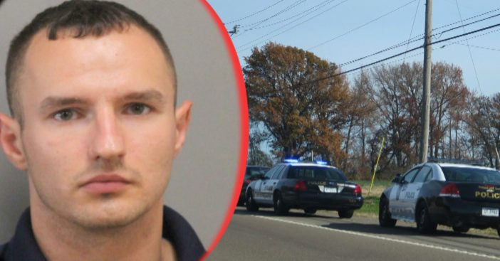 A man impersonating a police officer tried to pull over a van full of actual detectives.