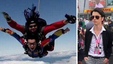 Michael Douglas and Catherine Zeta Jones son Dylan goes skydiving and they find out from Instagram