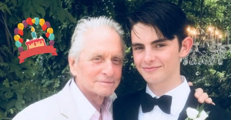 Michael Douglas shares a rare photo of himself and son Dylan
