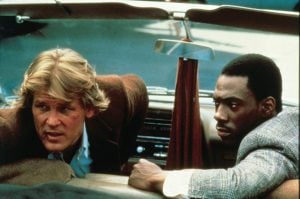 Nick Nolte and Eddie Murphy in 48 Hrs.