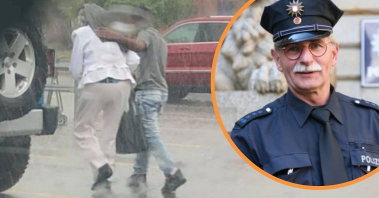 Officer Publicly Praises Teen Who Walks Senior Citizen To Their Car In The Rain