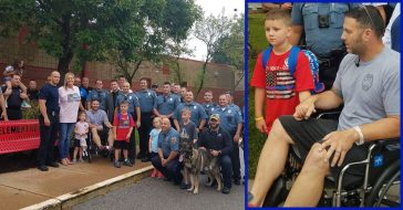 Police Officer With Cancer Leaves Hospital To Take Son With Autism To First Day Of School