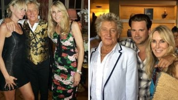 Rod Stewart reunited with some of his exes for his daughters birthday