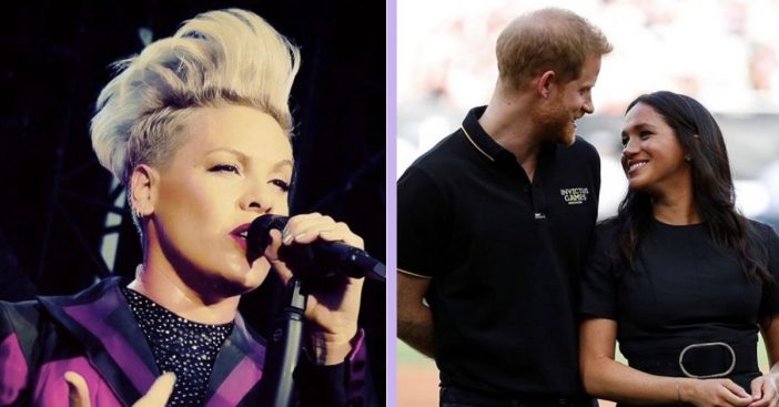 Singer Pink Defends Meghan Markle, Prince Harry During Outrageous Public Bullying