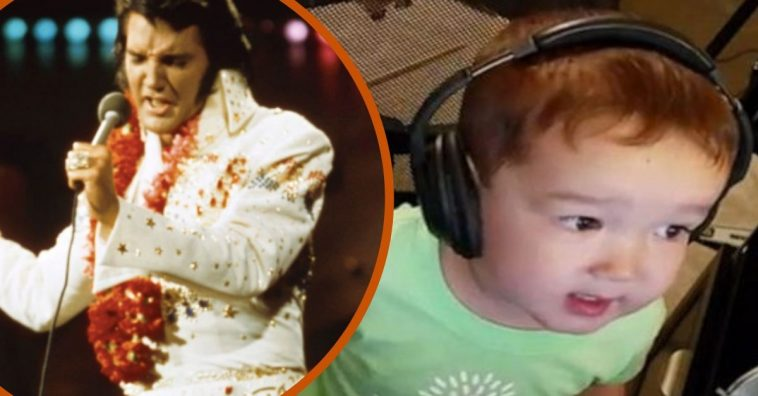 This Adorable 2-Year-Old Boy Still Learning To Talk Sings Elvis Presley Perfectly