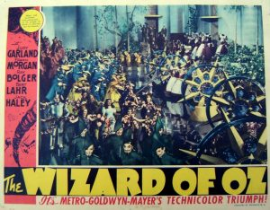 The lobby card from the release of The Wizard of Oz
