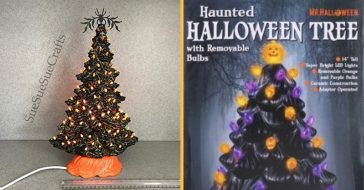 You can now buy Halloween ceramic trees