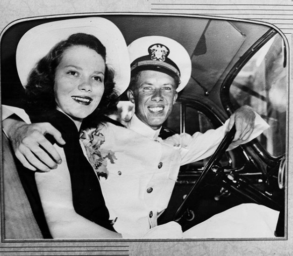 A young Jimmy and Rosalynn Carter