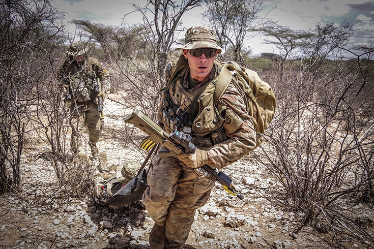 army soldier in combat