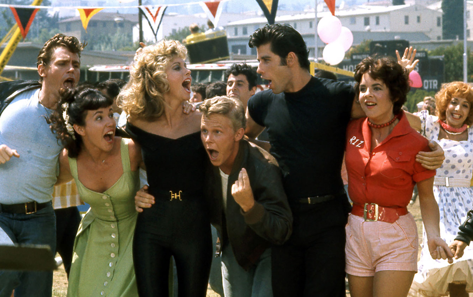cast of grease we go together scene