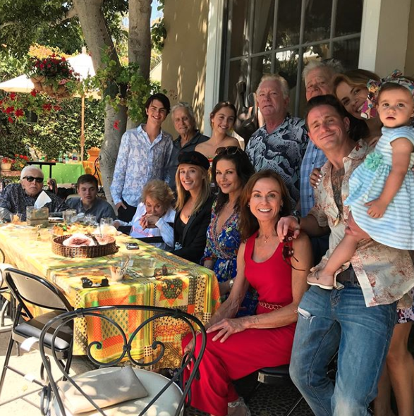 Douglas family lunch in Beverly Hills
