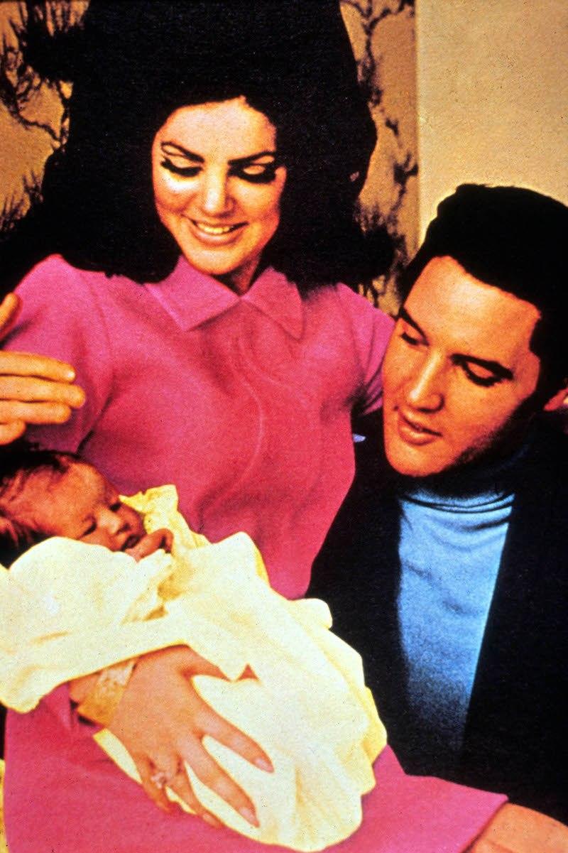 Priscilla, Elvis, and Lisa Marie