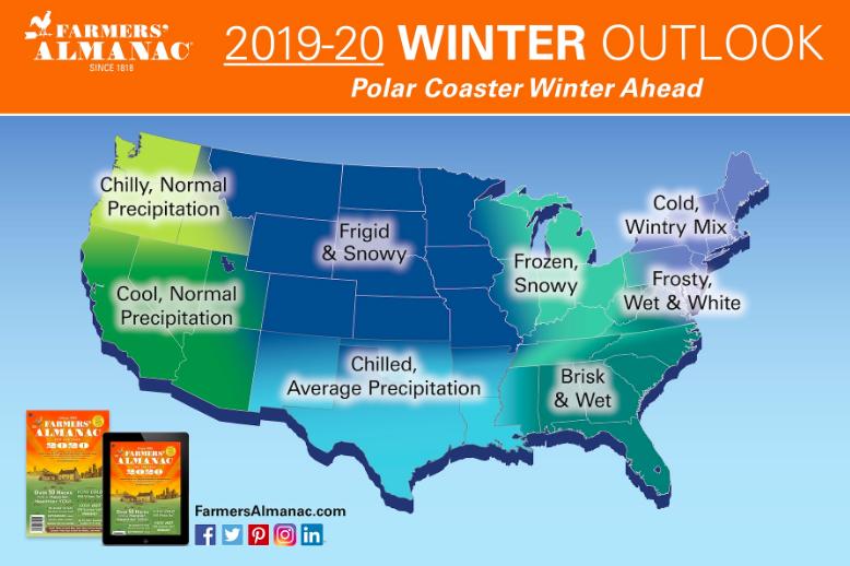 Farmer's Almanac 2020 Winter Outlook