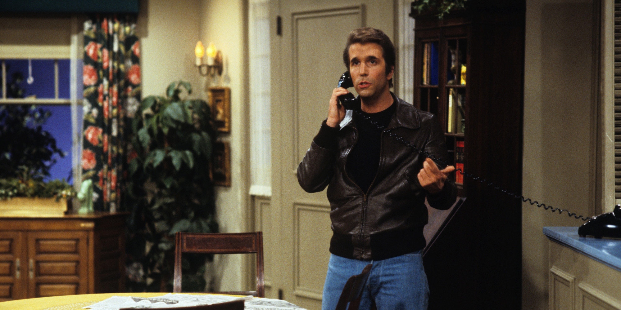 fonzie on the phone henry winkler