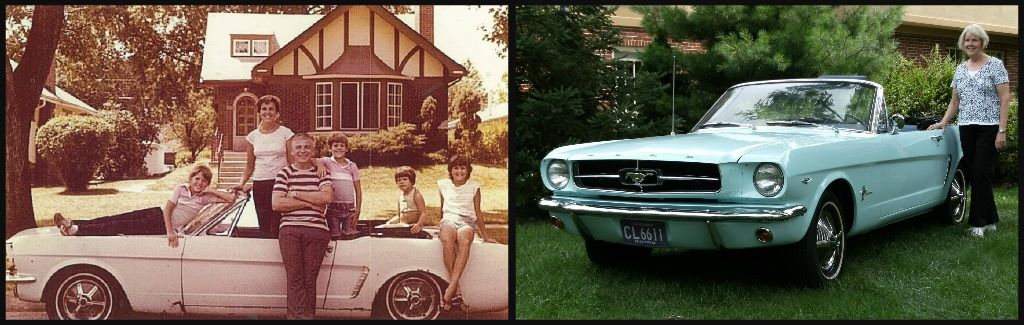 gail wise family and mustang