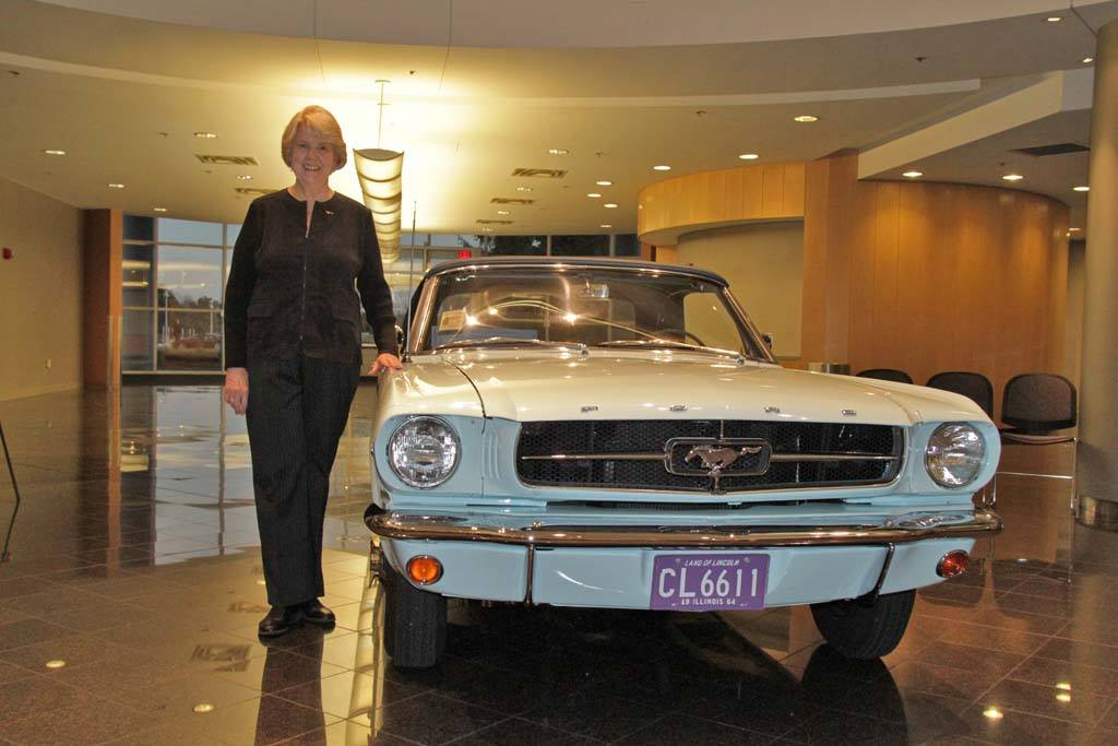 gail wise and her ford mustang