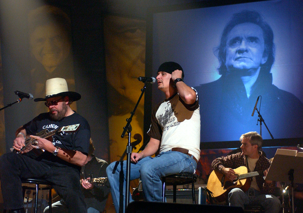 Kid Rock and Hank Williams Jr. johnny cash tribute