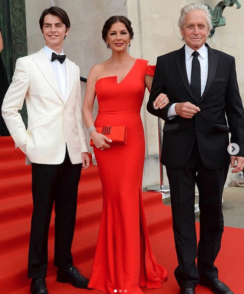 Michael Douglas, Catherine Zeta-Jones, and son Dylan