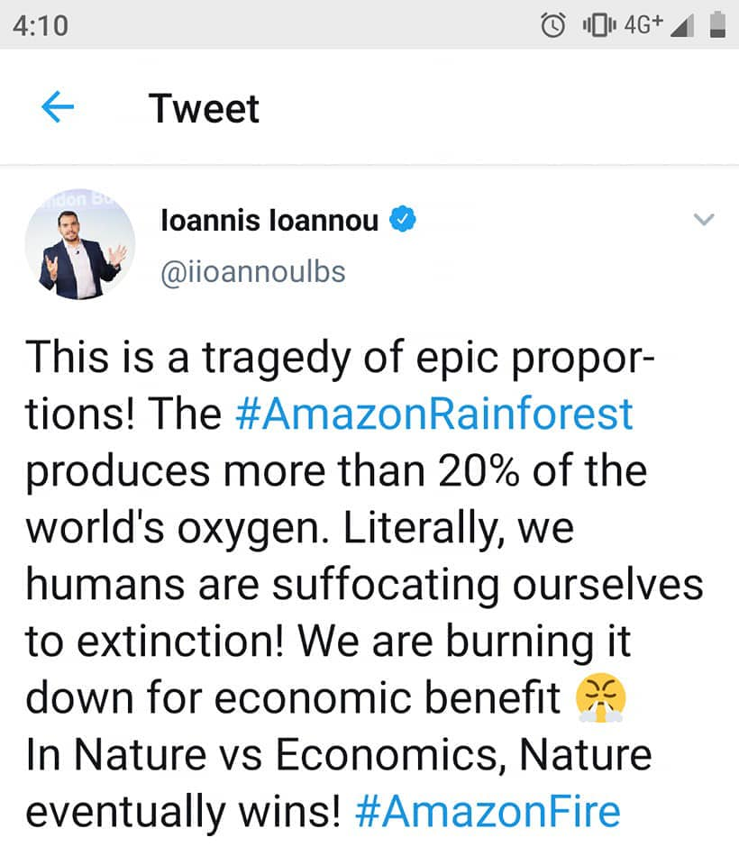 amazon rainforest tweet