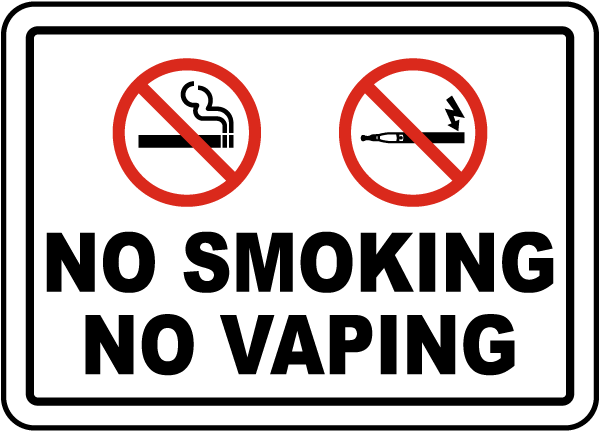 no smoking no vaping sign