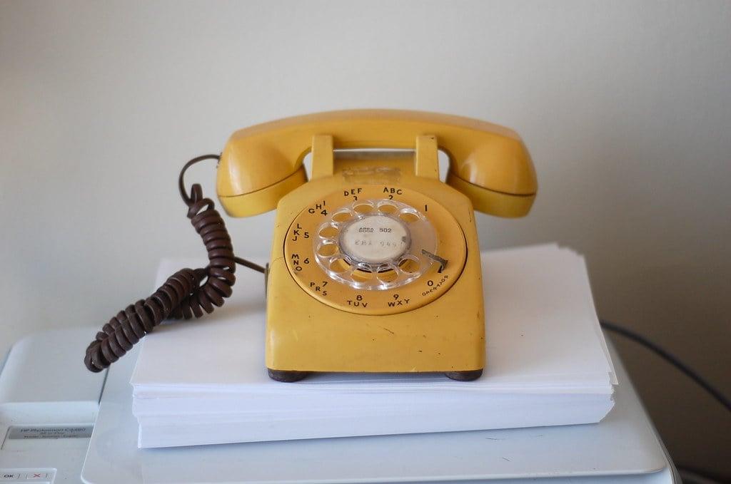 old rotary phone