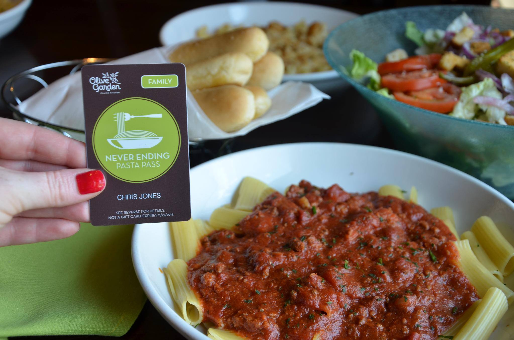 pasta pass olive garden