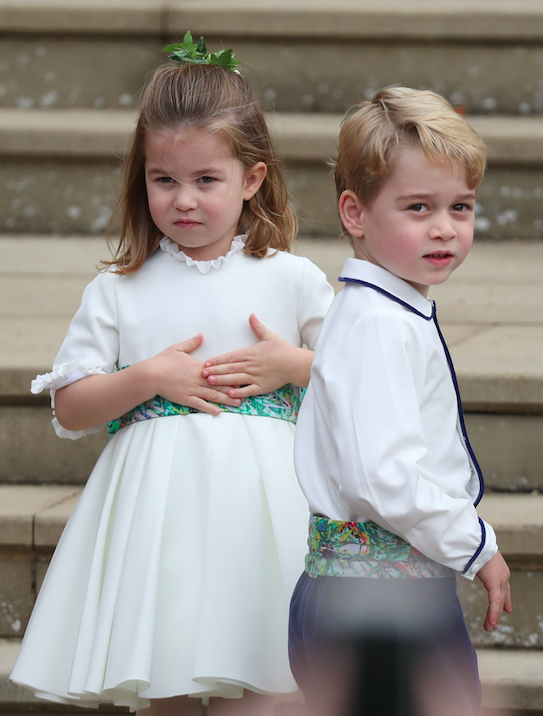 Prince George and Princess Charlotte at 2018 wedding