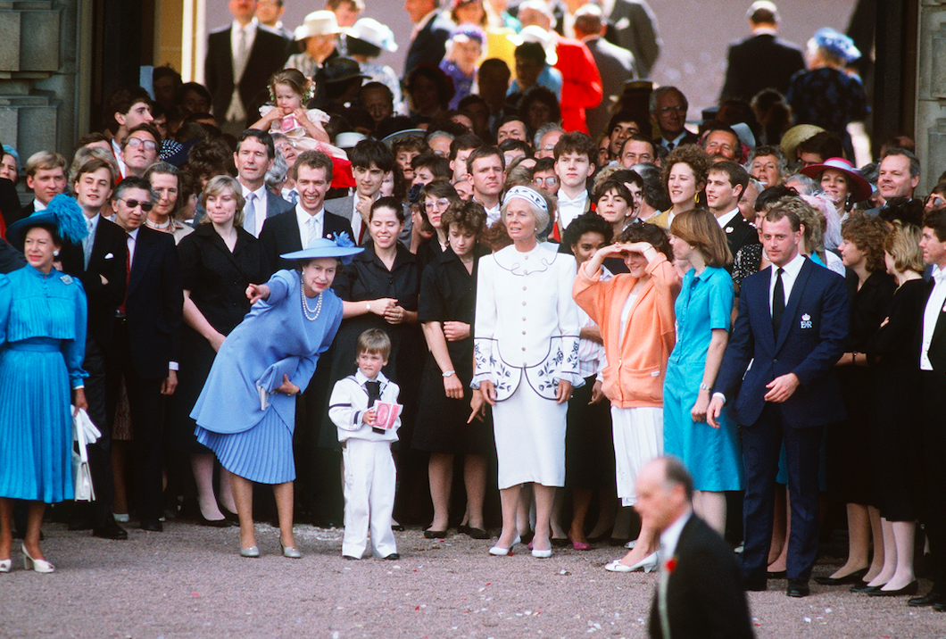 Royal family at 1986 wedding