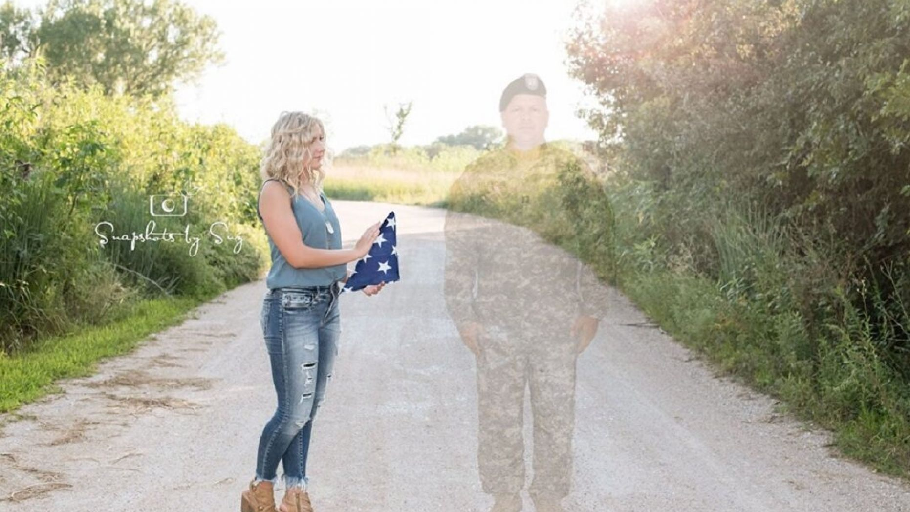 teen honors deceased father with angel graduation photo